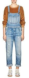 NSF Women's Dolly Distressed Denim Overalls - Blue