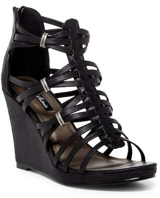 Michael Antonio Answer Strappy Wedge Sandal $59 thestylecure.com