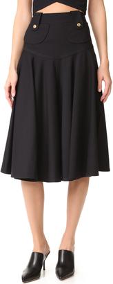Derek Lam Flared Midi Skirt $1,295 thestylecure.com