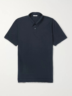 James Perse Supima Cotton-Jersey Polo Shirt - Men - Blue