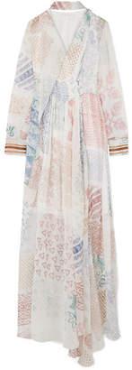 Chloé Printed Silk-chiffon Gown - White
