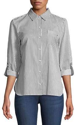 Tommy Hilfiger Conductor Stripe Boxy Buttoned Shirt