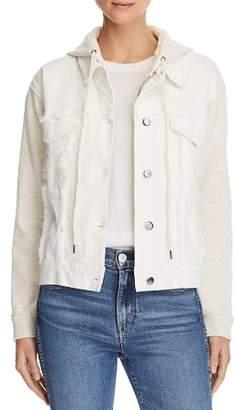 Splendid Mixed Media Hooded Jacket