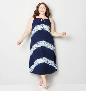 Avenue Tie Dye Stripe A-Line Dress
