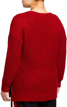 Rachel Roy Rina Cable-Knit Sweater, Plus Size