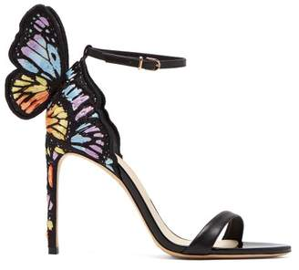 Sophia Webster Chiara Butterfly Wing Leather Stiletto Sandals - Womens - Black Multi