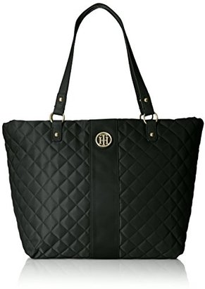 Tommy Hilfiger Isla Quilted Nylon Tote $47.99 thestylecure.com