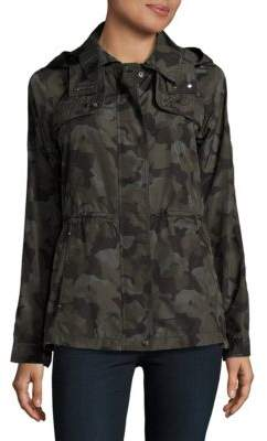 Vince Camuto Camo-Print Hooded Parka