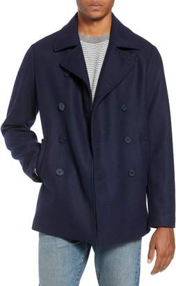 Life After Denim Slim Fit Wool Blend Peacoat
