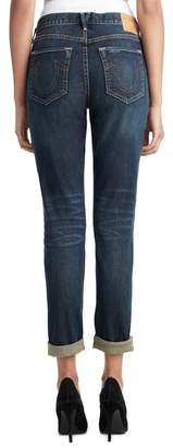 True Religion Cameron Patched Boyfriend Jeans