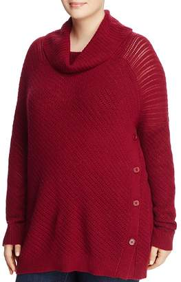Lucky Brand Plus Alyssa Cowl-Neck Sweater