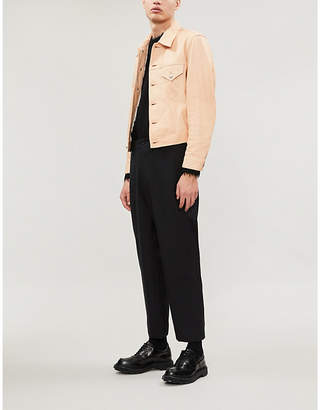 Helmut Lang Trucker leather jacket
