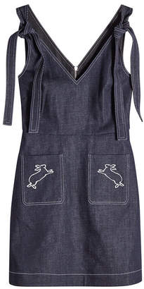 Markus Lupfer Denim Dress with Embroidery
