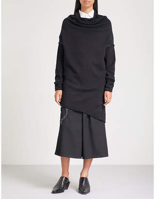 Y's Ys Longline asymmetric cotton-blend jumper