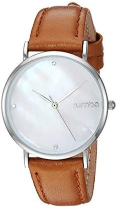 RumbaTime Women's 'Lafayette' Quartz Metal and Leather Casual Watch