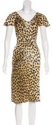 Just Cavalli Animal Print Knee-Length Dress