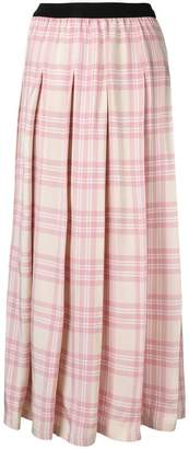 Sara Lanzi pleated checked skirt