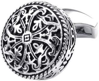 Celtic Konov Jewelry 2pcs Mens Vintage Cross Shirts Cufflinks, Wedding