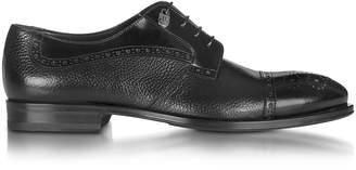 Loriblu Black Grained Leather Brogue Shoe