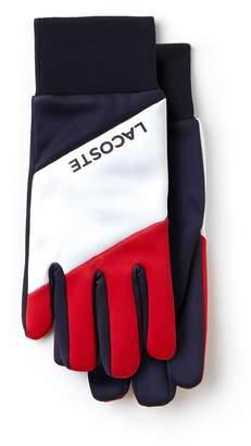 Lacoste Men's French Sporting Spirit Edition Colorblock Polar Fleece Gloves