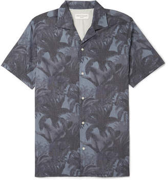Officine Generale Dario Camp-Collar Printed Lyocell And Cotton-Blend Shirt