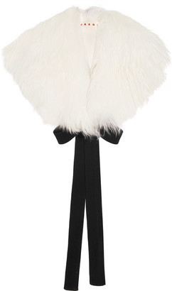 Shearling Collar - White