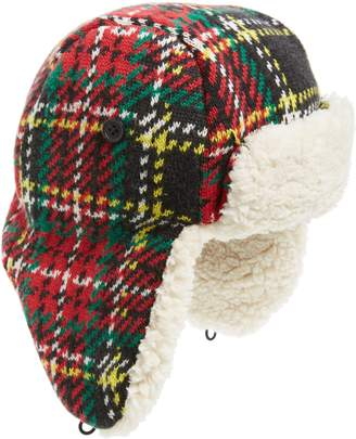 J.Crew crewcuts by Stewart Tartan Fleece Lined Trapper Hat