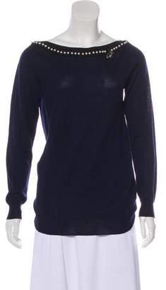 Blumarine Wool Embellished Sweater