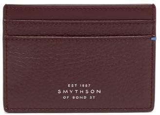 Smythson Burlington Leather Card Holder - Mens - Red