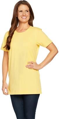 Denim & Co. Essentials Oversized Short Sleeve Scoop Neck Tunic