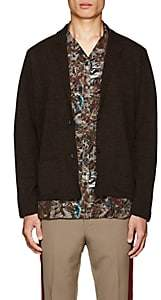 Lanvin Men's Merino Wool-Alpaca Cardigan - Brown