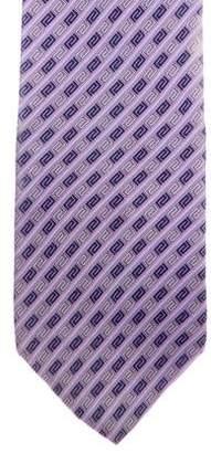 Versace Greca Print Silk Tie
