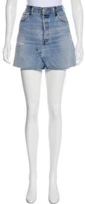 RE/DONE Denim Mini Skirt