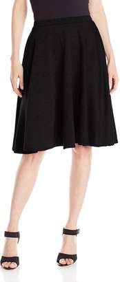 Star Vixen Women's Knee Length Full Skater Skirt