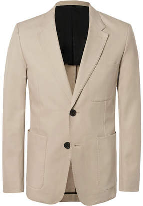 Ami Beige Slim-Fit Cotton-Twill Suit Jacket - Men - Beige