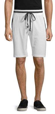 Contrast-Trim Drawstring Shorts