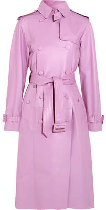 Valentino Leather Trench Coat - Pink