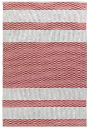 Camilla And Marc Vallila Vilho Rug 140x200 cm, Cotton, Beige/Red, 200 x 1 x 140 cm