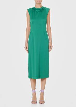 Tibi Astor Knit Sleeveless Corset Dress with Cut Out Back