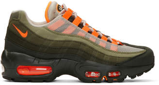 Nike Green and Orange Air Max 95 OG Sneakers