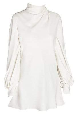 362639714b3332 Long Sleeve Silk Tunic Blouse - Foto Blouse and Pocket Fensterdicht.Com