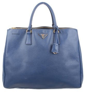 prada Prada Saffiano Lux Double-Zip Executive Tote