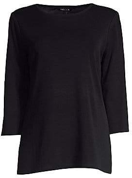 Misook Women's Three-Quarter Sleeve Tunic