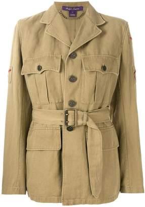 Ralph Lauren belted military jacket