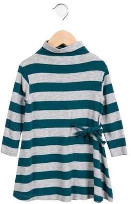 Il Gufo Girls' Striped Long Sleeve Dress