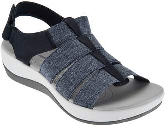 92e2a0866b9 at QVC · Clarks CLOUDSTEPPERS by Sport Sandals - Arla Shaylie