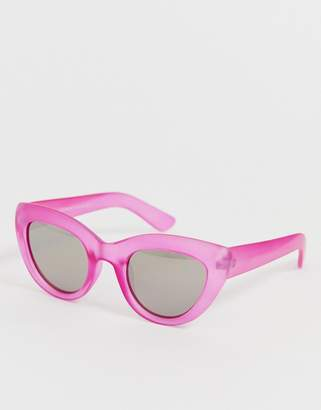 A. J. Morgan Aj Morgan AJ Morgan cat eye sunglasses in transparent pink