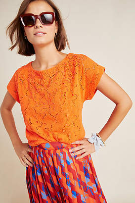 Maeve Karine Beaded Lace Top