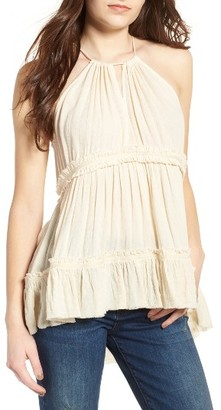Women's Sun & Shadow Tiered Gauze Tank $45 thestylecure.com