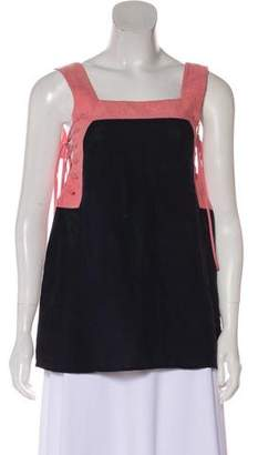 Marysia Swim Lace-Up Colorblock Top